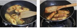 焦糖白兰地香蕉的做法图文步骤