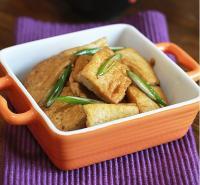 大葱烧豆腐的做法