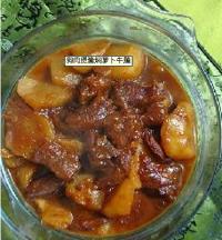 狗肉煲酱焖萝卜牛腩的做法
