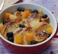 水果面包布丁的做法