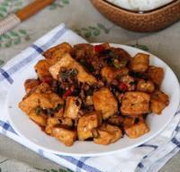 香辣煎豆腐的做法