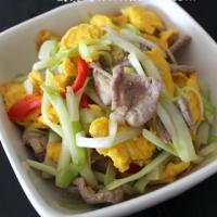 鸡蛋韭黄炒瘦肉的做法