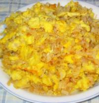 咸菜摊鸡蛋的做法