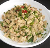 凉菜:香椿拌豆腐的做法