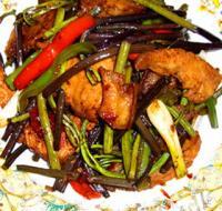 蕨菜炒回锅肉的做法