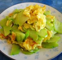 佛手瓜炒鸡蛋的做法
