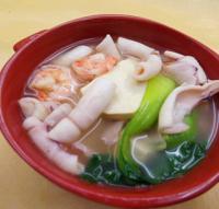 鱿鱼虾仁煲的做法