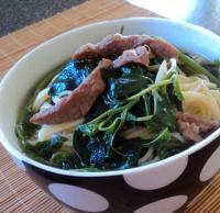 肉丝马齿苋汤面的做法