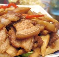 五花肉炒笋尖的做法