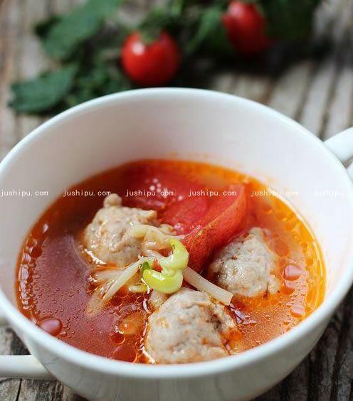 番茄肉丸汤的做法 www.meitianmeiwei.com