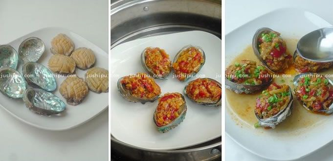 剁椒鲜鲍鱼的做法 www.meitianmeiwei.com
