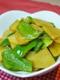 下饭素菜 青椒土豆片的做法