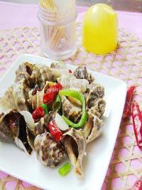 开胃家常菜 爆海螺的做法