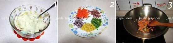 香煎什锦土豆饼的做法 www.meitianmeiwei.com