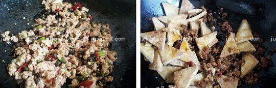 肉沫炖豆腐的做法 www.meitianmeiwei.com