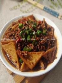 家常菜 肉沫炖豆腐的做法