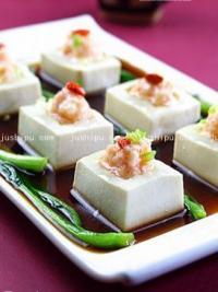 家常菜 鲜虾酿豆腐的做法