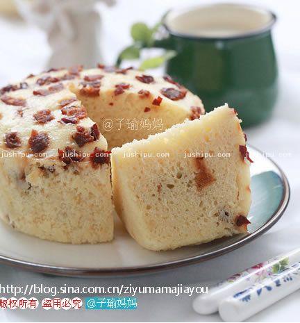 红枣玉米发糕的做法 www.meitianmeiwei.com