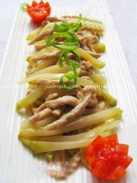 家常菜 榨菜炒肉丝的做法