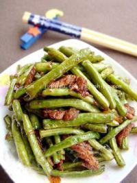豉香肉丝豇豆的做法