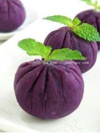 早餐 紫薯茶巾绞的做法