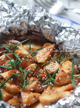 迷迭香焗杏鲍菇的做法