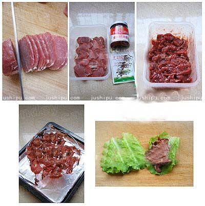 生菜包肉的做法 www.meitianmeiwei.com