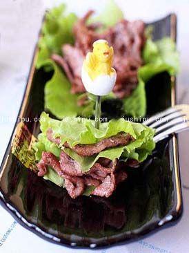 生菜包肉的做法