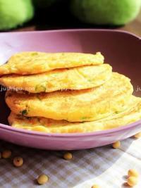 早餐 葱花鸡蛋豆渣饼的做法