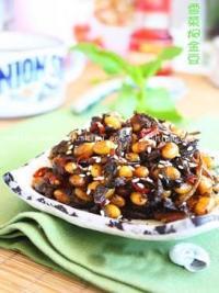 雪菜焖金豆的做法